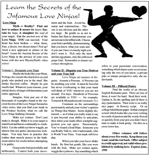 Secrets of the Love Ninja
